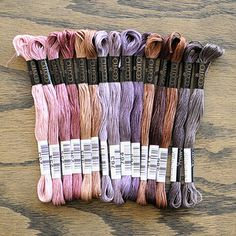 Cosmo, Royal earth palette. 6 strand Japanese embroidery floss. $15
