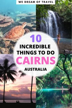 Complete list of the top 10 best things to do in Cairns Australia. From scuba diving or snorkelling the Great Barrier Reef to the most beautiful waterfalls and the best place to get coffee! This post will help you create your own ultimate Cairns itinera Brisbane, Melbourne, Sydney, Coast Australia, Visit Australia, Western Australia, Australia Honeymoon, Australia Country, Australia Trip