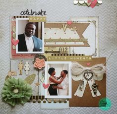 Always Angella Blog - Beautiful wedding layout! Part of our Glue Dots and Marion Smith Designs Blog Hop