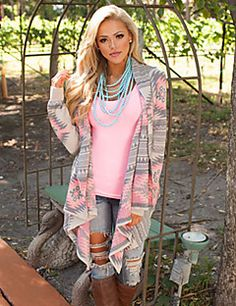 Women's Regular Cardigan,Print Pink Green Cowl Long Sleeve Acrylic Winter Opaque Micro-elastic