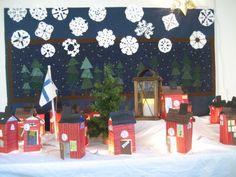 Joulukalenteri Primary School Art, Art School, Countdown Calendar, Advent Calendar, Christmas Calendar, Teaching Kindergarten, Arts And Crafts, Xmas, Homemade