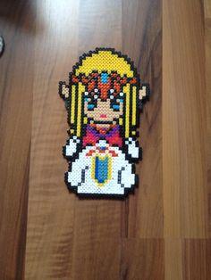 Princess Zelda perler beads by SkySilverflame on deviantART