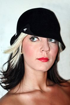 Velour Cloche with Side Cut oOt by Artikalnyc on Etsy