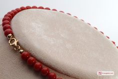 Extra Red Coral Necklace Light Color round 6½-7mm in Gold 18K Collana Corallo rosso Extra Light Color pallini 6½-7mm in Oro 18K http://www.maxgioie.com/shop/extra-red-coral-necklace-light-color-round-6%C2%BD-7mm-in-gold-18k