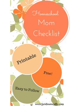 Use this handy homeschool checklist and use it to help you guide your day. Learn where to focus your efforts and how to make progress towards your goals. #homeschoolchecklist #homeschool #homeschooling #mom #homeschoolmom #heidinaturally #naturalmom #goals #focus #jesus #God #progress #success #homeschoolsuccess #homeschoolhelp #printable #free