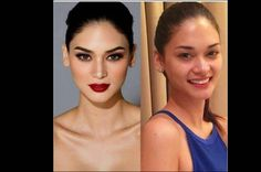 Miss Universe 2015: looks like the Philippine Pious Wurtzbach without makeup