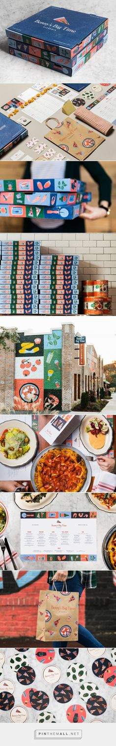 The Branding and Packaging For Benny's Big Time Pizzeria Offers a Fresh Take On The Italian Restaurant — The Dieline | Packaging & Branding Design &... - a grouped images picture - Pin Them All