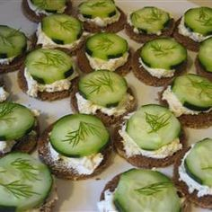 Cucumber Sandwiches Recipe -  this was easy and they loved it.