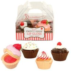 Sweet Shop Cupcake Lip Glosses