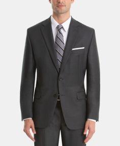 5a543f432 Lauren Ralph Lauren Men's UltraFlex Classic-Fit Wool Suit Jacket - Grey 36S