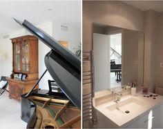 Ático Barcelona  •  TindasProjectInterioristas #diseñointerior #interiordesign #elegante #elegant #blancoynegro #blackandwhite #salón #livingroom #piano #baño #bathroom #detalle #detail