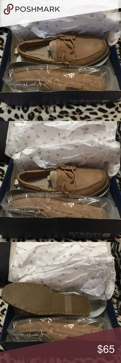 BNIB Sperry Top-Sider Leeward Linen Brand new, in box, Sperry Top-Sider Leeward Linen in color Sahara.. Size 10M. Feel free to make an offer!! 🤗 Sperry Top-Sider Shoes Flats & Loafers