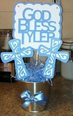 First Communion centerpiece idea for boys #firstcommunion #religious