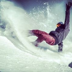 Snowboarding -Like surfing #fashion #skifashion #helmethuggers
