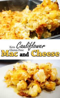 Keto Cauliflower Mac and Cheese - Crispy Baked Topping
