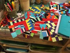 Modern Quilt Blocks, Bright Quilts, Scrap Quilt Patterns, Striped Quilt, Blog Writing, Anarchy, Gift Wrapping, Stitch, Quilting