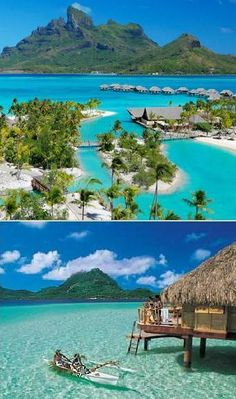 Our honeymoon. Tahiti, Moorea, & Bora Bora in a over water bungalow..  Most beautiful place on earth.