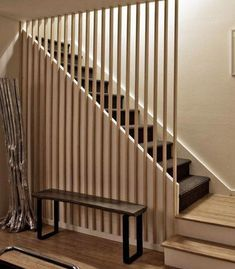 How To Build and Frame Stairs with Landings, remodel wooden stairs ideas ==>> Link in bio to get your cables organized! Basement Staircase, Modern Stair Railing, Staircase Railings, Modern Stairs, Staircase Design, Bannister, Cottage Stairs, House Stairs, Stair Walls