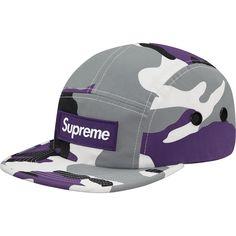 Supreme FW16 Camp Box Logo Purple Camo CAP HAT Strapback Adjustable CDG Palace #Supreme #Camp