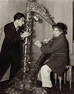 Salvador Dali and Harpo Marx