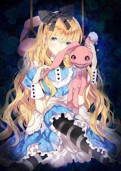 Alice In Wonderland Aesthetic, Alice In Wonderland Theme, Adventures In Wonderland, Loli Kawaii, Anime Kawaii, Alice Anime, Alice Liddell, Alice Madness, Anime Version