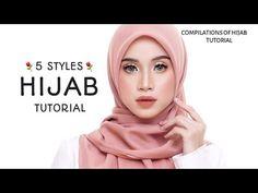 5 STYLES || LATEST || HIJAB SQUARE TUTORIAL|| MOST BEAUTIFUL & SWEETS !!|| Square Hijab Tutorial, Hijab Style Tutorial, Hijab Fashion, Women's Fashion, Hijab Styles, Hijabs, Personality Types, Turban, Dan