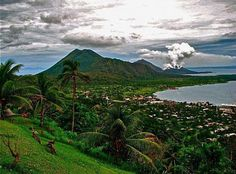 Rabaul, Papua New Guinea. Apart from earthquakes and eruptions ... and mosquitoes! just beautiful.