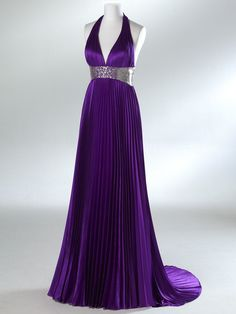 Trumpet/Mermaid V-neck Elastic Woven Stain Evening/ Prom Dress. $169.00, via Etsy.