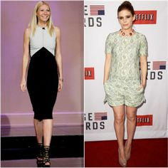 Gwyneth Paltrow in Narciso Rodriguez vs. Kate Mara in Mulberry. Click through to vote!