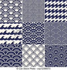 kimono patterns vector - Google Search