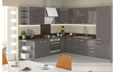 Set de bucatarie UPA1 Prado, Double Vanity, Home And Living, Angles, Kitchen Cabinets, House Design, Grey, Home Decor, Images