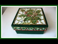 Caja Navidad, decoupage y papel foil