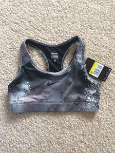 Nike Pro Core Fitted Womans Sports Bra -splatter Grey Size S BNWT in Sporting Goods, Fitness, Running & Yoga, Fitness Clothing & Accessories | eBay