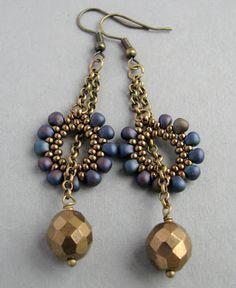 beademecum: fülbevaló/earring – handcrafted beaded jewelry – gyöngy ékszer