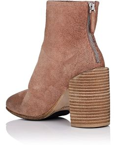 Marsell Distressed Suede Ankle Boots - 10 Pink