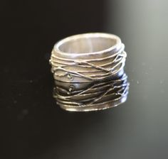 Silver Clay Ring Arts And Crafts, Jewelry Design, Clay, Rings, Silver, Ideas, Clays, Money, Craft Items