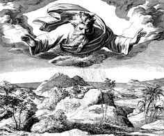 Bilder der Bibel - Der dritte Schöpfungstag - Julius Schnorr von Carolsfeld