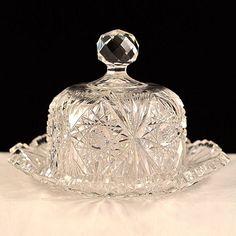American Brilliant Cut Glass Butter Dish - I love the beauty of cut glass!