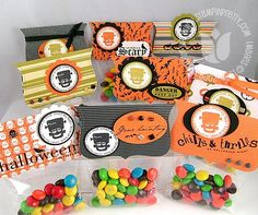 candy bags with top note topper