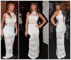 Vestido Longo De Croche Estilo Sabrina Sato - R$ 390,00