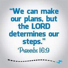 Bible verse ~ Proverbs 16:9