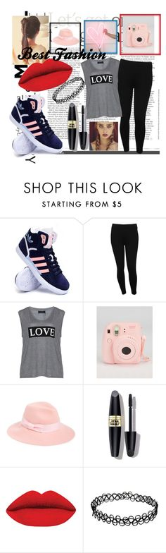 """""""Untitled #21"""" by best-fashion15 ❤ liked on Polyvore featuring adidas, M&Co, Carmakoma, August Hat, Max Factor, women's clothing, women, female, woman and misses"""