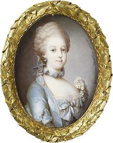 Caroline Matilda, Queen of Denmark and Norway (1751 - 1775). Daughter of Frederick, Princes of Wales, and Augusta of Saxe-Gotha. She married Christian VII of Denmark and had two children. She had an affair with  Johann Friedrich Struensee which led to her divorce and imprisonment.