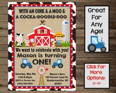 Visit the post for more. Farm Animal Birthday, Farm Birthday, Boy First Birthday, Party Centerpieces, Birthday Party Decorations, Party Themes, Birthday Parties, Farm Cupcake Toppers, Party Food Signs