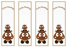 Super Mario Bookmarks – Birthday Printable