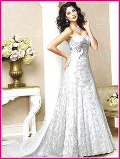 Ivory Lace Wedding Dress Empire Waist