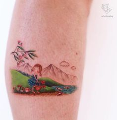 Ayhan Karadağ inks colorful, cute tattoos that look like fantastical storybook illustrations, allowing wearers to celebrate the magic of childhood. Dainty Tattoos, Mini Tattoos, Cute Tattoos, Small Tattoos, Tattoos For Guys, Body Tattoos, Whimsical Tattoos, Minimal Tattoo Design, Poppies Tattoo