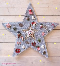 advent star calendar crochet patterns christmas