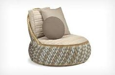 Dedon Dala Outdoor Lounge Chair by Stephen Burks - Chaplins Tire Furniture, Recycled Furniture, Furniture Design, Tire Craft, Recycling, Tire Chairs, Outdoor Armchair, Tyres Recycle, Old Tires