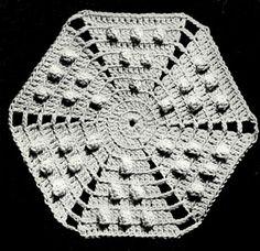 Swedish Popcorn Bedspread Pattern Square